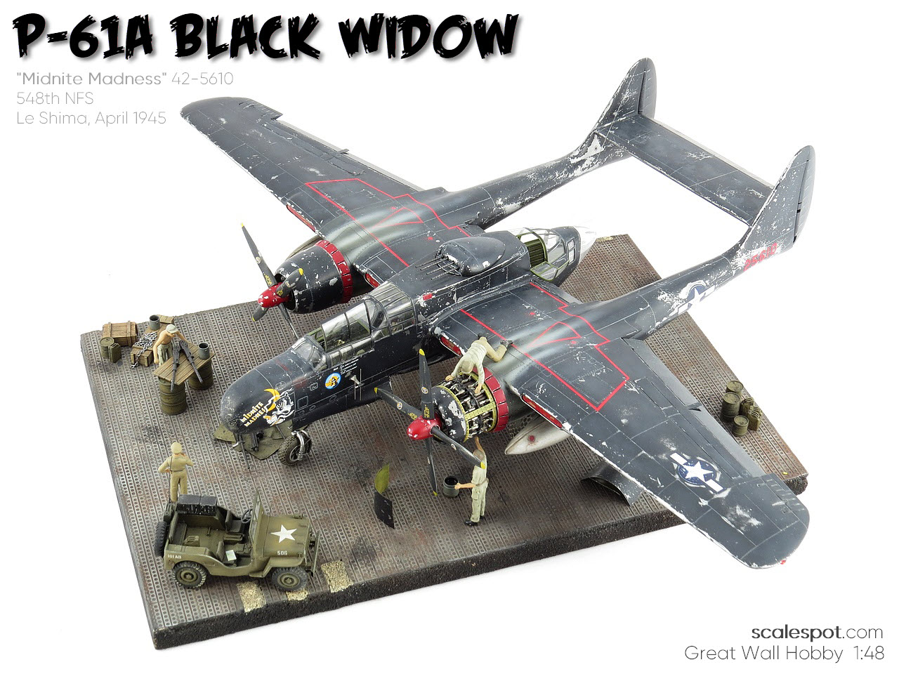 Jeep Covers scalespot.com - GWH 1/48 P-61A Black Widow