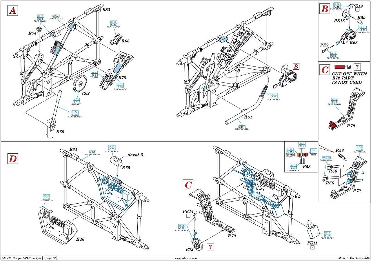 Eduard 1:48 Tempest Mk.V Series 1 Build on