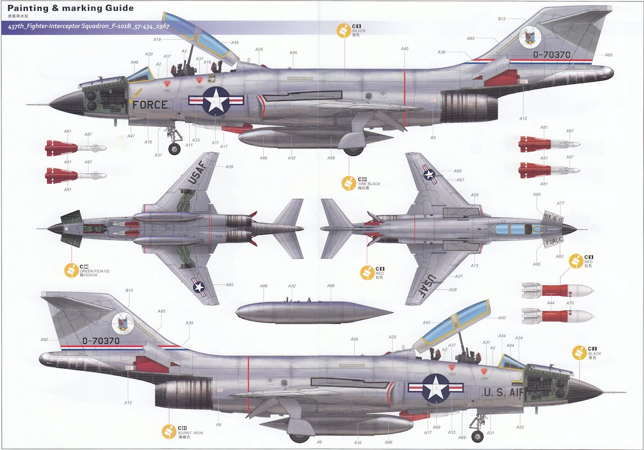 Kitty Hawk 148 F 101b Voodoo Box Review Diagram Automotive Electrical Symbols Lockheed 104 Much Like Previous Kh Releases The Kit Decals Seem To Be Well Printed With No Obvious Registration Issues Though Not As Thin You Would Expect From A